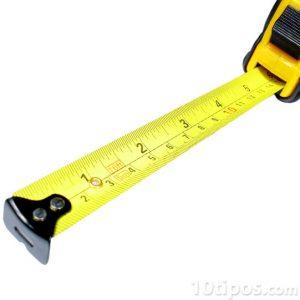 Cintra metrica de color amarilla