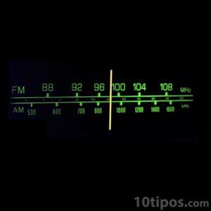 Indicador de estaciones de radio