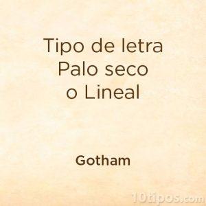 Tipografia gotham