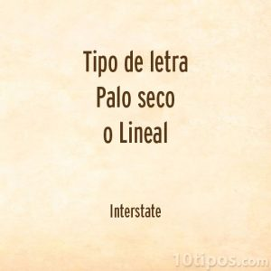 Tipografía interstate
