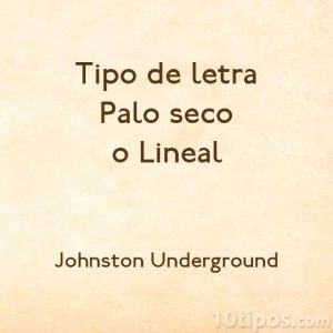 Tipografía Johnston Underground