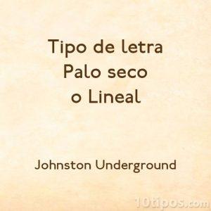 Tipografía Johnston Underground