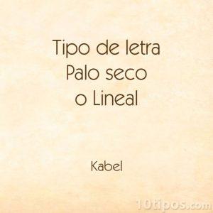 Tipografía Kabel