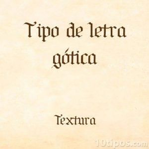 Letras estilo gótico