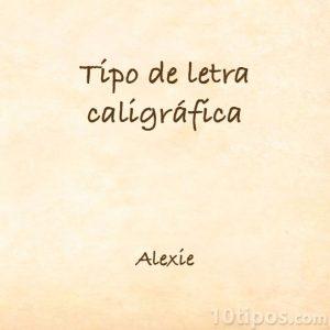 Tipografía Alexie