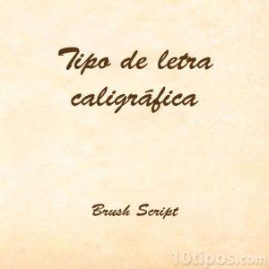 Tipografía brush script