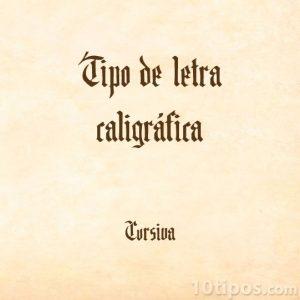 Tipografía estilo caligráfica