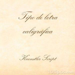 Tipografía script
