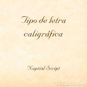 Escritura caligráfica