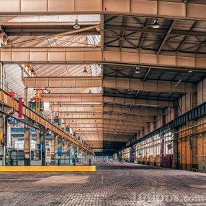 Nave industrial vista en su interior