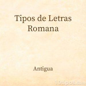 Tipo de letra romana