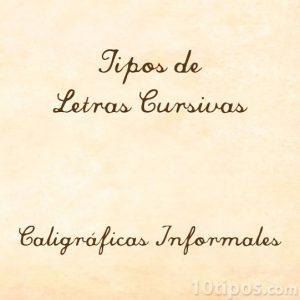 Letras con estilo cursivo