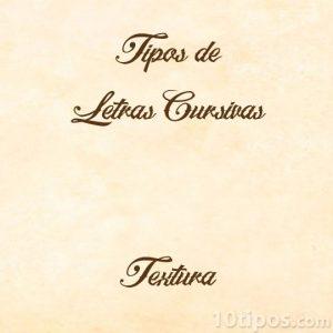 Letra estilo cursiva con adornos