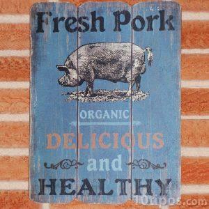 Anuncio sobre comida vegana